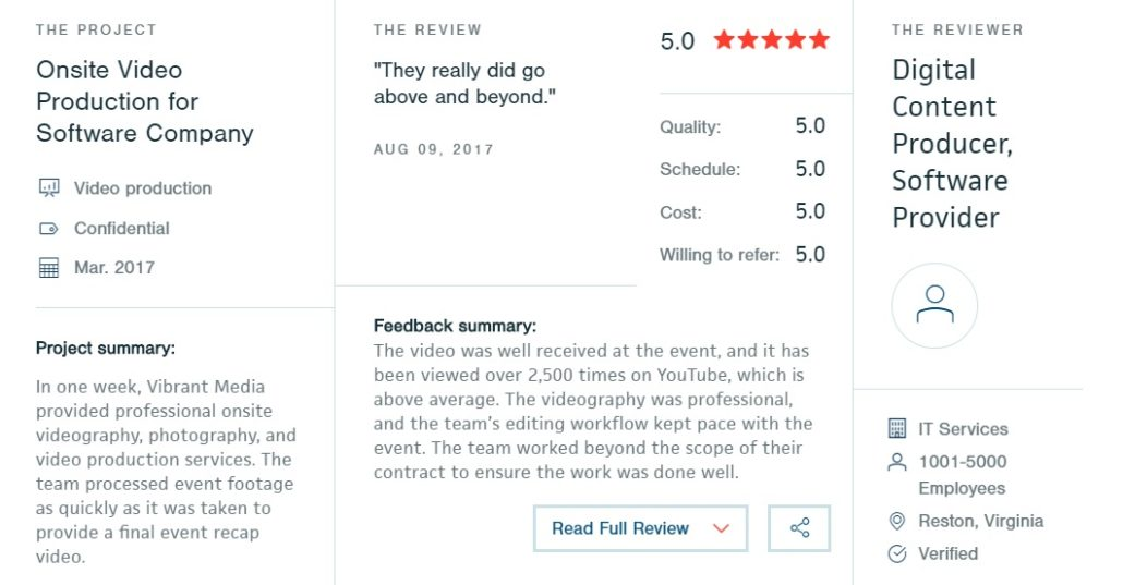Client Review Videographer Orlando