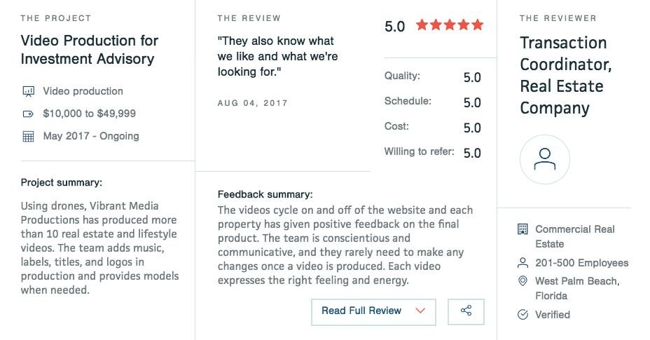 Video Production Company Reviews Orlando