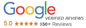 150+ Five Star Reviews - Google Verified